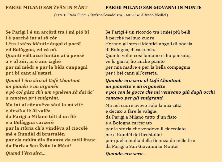 Testo canzone PARIGI MILANO S.ZVAN
