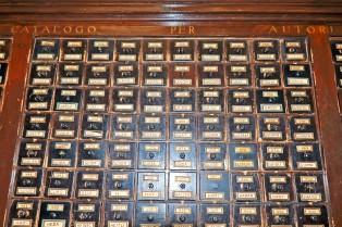 L'antico catalogo della Biblioteca