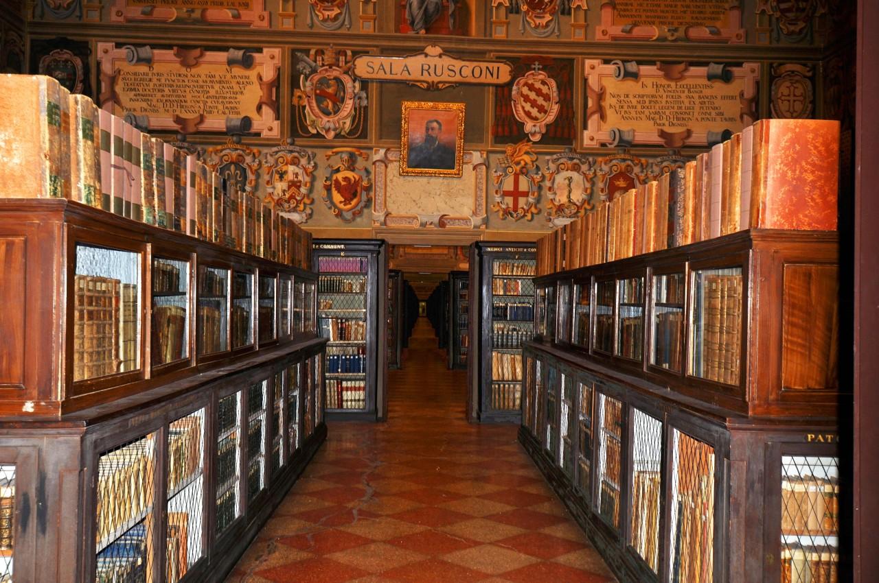 Archiginnasio di Bologna 1: aule di studio eBiblioteca
