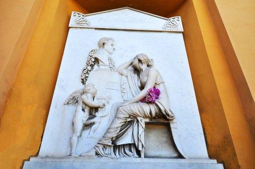 Chiostro V. Tomba della cantante Isabella Colbran, prima moglie di Gioachino Rossini, del padre violinista e dei genitori del compositore.