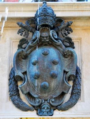 Stemma della famiglia milanese Medici (non quella di Firenze).