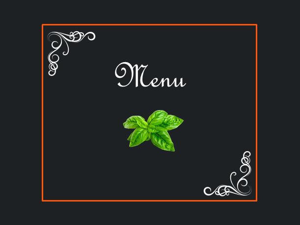 Menu basilico (Invito pranzo retorica)
