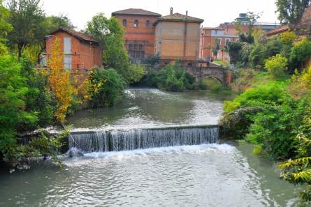 Cascata prima del Battiferro e della separazione fra Fossetta e Canalazzo.