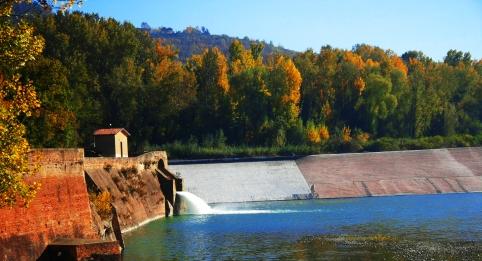 La Chiusa del Reno compresa fra il Lido di Casalecchio e il Parco della Chiusa