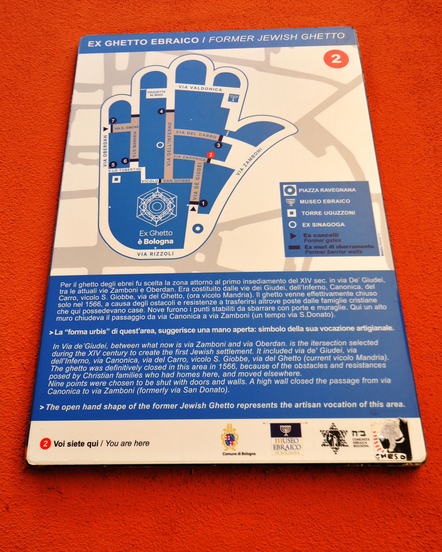 Mappa in via Canonica